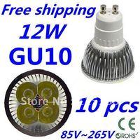 10pcs/lot Free DHL and FEDEX express CREE LED High power GU10 4x3W 12W led Light led Lamp led Downlight led bulb spotlight