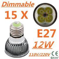 15pcs/lot Free DHL and FEDEX express CREE Dimmable LED High power E27 Base 4x3W 12W led Light led Lamp led Downlight led bulb