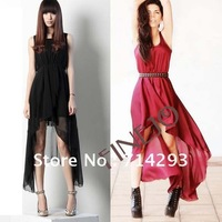 2013 Fashion New Women's Irregular Chiffon Long Dress  free shipping 5162