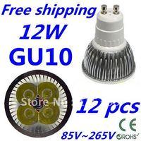 12pcs/lot Free DHL and FEDEX express CREE LED High power GU10 4x3W 12W led Light led Lamp led Downlight led bulb spotlight