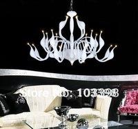 novelty items design 24 Swan lamp power 110v 220v to 12v transformer g4 iron pendant lights silver color lamps for home art deco