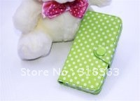 New arrival 5PCS Flip Wallet PU Leather Case For iPhone5 5G/iphone 5 Case ip5-05