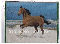 Free shipping - small size wall home decor picture,running horse on seaside