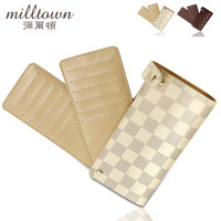 Free shipping Women's cute card holder male ultra-thin multi card holder card case leather