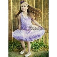 Free shipping Baby girl's  lavender  Pettiskirt,ballet Dress,girl's dance wear,6pcs/lot