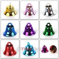 Wholesale - 120pcs Mixed Merry Christmas Metal Copper Clock Jingle Bells Charms Xmas Decoration 141448