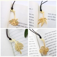 Mini golden bookmark gold metal bookmark 40pcs/lot, free shipping