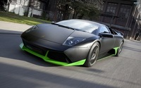 "19 Lamborghini Black Green Car Exhibition Cool Fast Show Supercar cars 38"" x 24"" inch ART PRINT Poster"