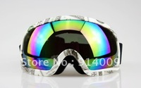 DOLLAR BILL FRAME COLOURED LENS ADULT MOTOCROSS SNOW SNOWBOARD SKI GOGGLES