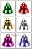 Wholesale - 48pcs Mixed Merry Christmas Metal Copper Clock Jingle Bells Charms Xmas Decoration 141447