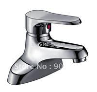 Brass Zinc Alloy Handle Ceramic Spool Basin Faucet Bathroom Vessel Sink Faucets Perfect Hose KF-3232