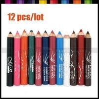 New 12 pcs Makeup Cosmetic Eye Liner Pencil Eyebrow Eyeliner Make up Tool Set #3173