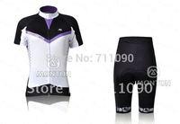Free shipping!2011 Giordana team female short sleeve cycling jersey and shorts kit/women bike wear/Ciclismo jersey