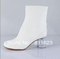 free shipping 2013 winter white sheepskin crystal high heel woman boots,genuine leather snow boots,size35-41