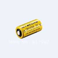 Free shipping Nitecore CR123 Lithium Battery