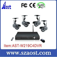 Free shipping CE FCC ROHS Digital wireless standalone DVR Camera System Real time Network H.264 model:AST-W219C4DVR