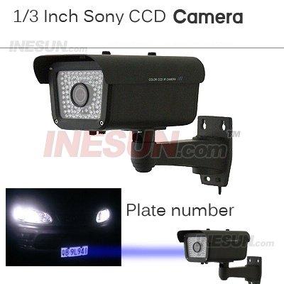 Segurança 1/3 polegadas Sony CCD 9 - 22 mm Lens 550 TVL IR Number Plate Camera 80 peças IR LED(China (Mainland))