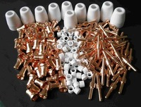 free shipping  New Air Plasma Cutter torch PT-31consumables 240pcs for CUT50 on big  sale