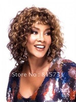 Custom Color Loose Spiral Curls Human Hair Wig--100% Remy Human Hair Wig