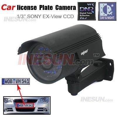Matrícula CCTV Day & Night Car Camera CCD 520TVL 9-22mm Varifocal luz forte Evitado(China (Mainland))