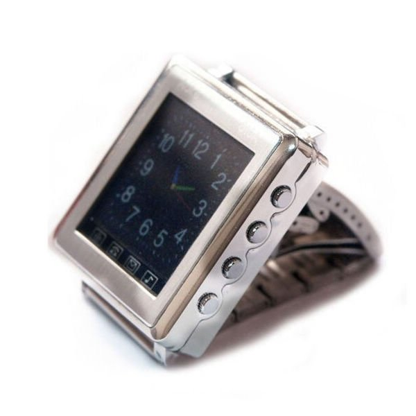Metal Bracelet Watch Mobile Phone Mp3 Music Play Bluetooth 1.44 Inch Touch Screen Free shipping(China (Mainland))