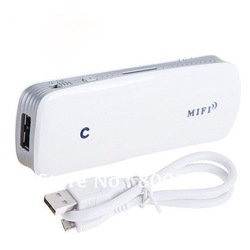 Portable External WiFi 3G Wireless Router MiFi with Battery for Power Source Max Bandwidth 150Mbps Free Shipping(China (Mainland))