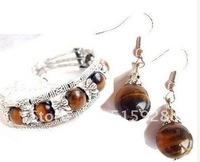 Beautiful jewelry Tibet tiger eye bracelet earrings