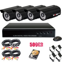 420TVL For Sony CCD 36 IR Leds Waterproof CCTV Kits KTF002B