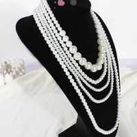 Elegant beautiful simulated pearls necklaces Good quality  Free shipping Mini order10USD+gift  XL3019