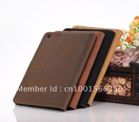 "High Quality Flannelet Pattern Leather Case For ipad Mini 7.85"" with Stand Holder 10pcs/lot"
