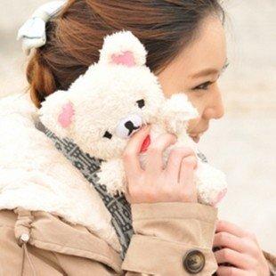 USPS/SINGPOST 3D Authentic Plush Toy Doll Case for iPhone 5 5s 5c lint Bear Rilakkuma cut Christmas gift