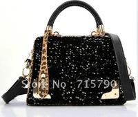 2012 autumn new tide  big Europe and sequins female  chain bag handbag shoulder bag oblique cross package