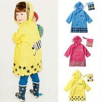 Free shipping New Cute kids raincoat children girl boy rainwear cartoon rain coat