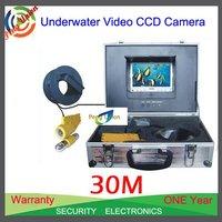 "Underwater fishing camera, 7"" TFT Color Underwater vedio Monitor System, 30M Underwater video camera"