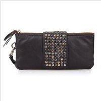 Free shipping new brand rivet women clutch   bag