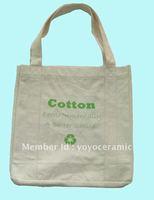 100pcs/lot cotton canvas tote bag logo printing customize