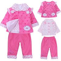 Пальто для девочек Child girls clothing autumn and winter 2013 100% cotton velvet thickening baby trench cardigan overcoat