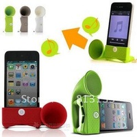 Hot selling & Free Shipping, Amplifier Portable Speaker Health silica gel horn stand for iphone 4/4s