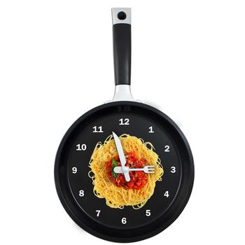 2013 HOT SALE Flat bottom pot wall clock personalized clock kitchen wall clock kitchen supplies