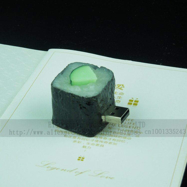 Creative waterproof Sushi usb flash drive 2GB 4GB 8GB 16GB 32GB usb 2.0 Memory Disk 100% Full Capacity(China (Mainland))
