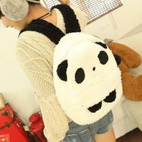 Cartoon female backpack plush panda school Backpacks & Travel bag free shipping