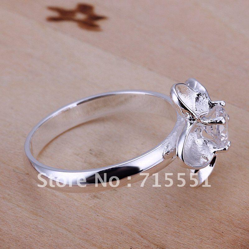 925 Серебряный цветок кольца / новый