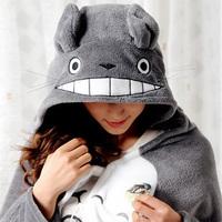 Cute Kawaii Totoro Ghibli Soft Comfortable plush Costume Cloak Shawl Cape Wrap
