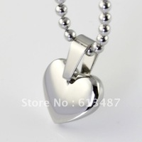 Fashion Women&girls Jewelry Silver Stainless Steel Huge Heart Pendant FREE SHIPPING