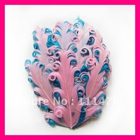 Wholesale! Mixed colors+Free shipping+High quality (100pcs/lot) curly Goose feather pads for headband