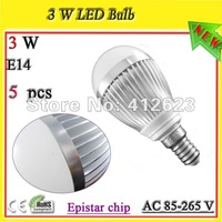 Free shipping 3W E14 led globe bulbs 3W_dimmable ampoules LED