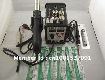 2005 DHL free shipping 110V or 220V Saike 898D Hot Air Rework Station Hot Air Gun BGA De-Soldering Reballing