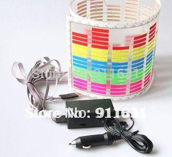 70cm x 16cm Car Music Lights colorful Car Strip Led Lights Rhythm Lamp Led Sound Activated Equalizer Multi color flashing  Led
