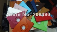 360 Degree Rotating PU Wallet Stand Leather Case + PC Case Cover Swivel Stand for iPad Mini case