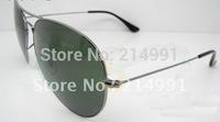 U03# Fashion sunglasses, gun frame green glass lens 58mm or 62mm